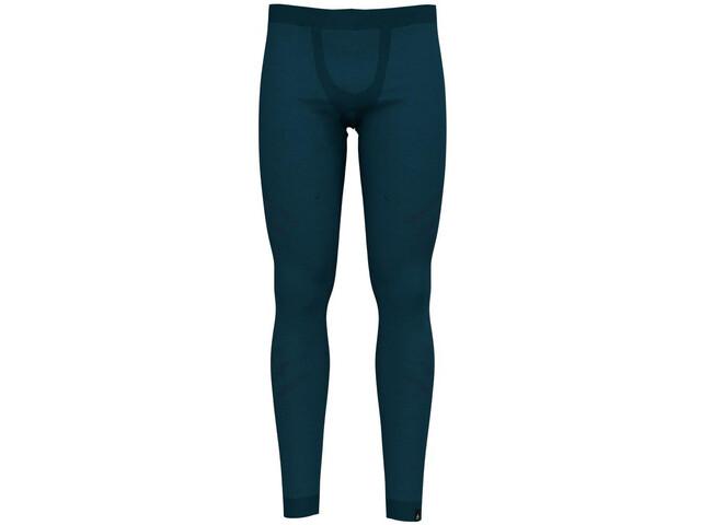 Odlo Suw Natural + Kinship Warm Bottom Pants Herren blue coral melange